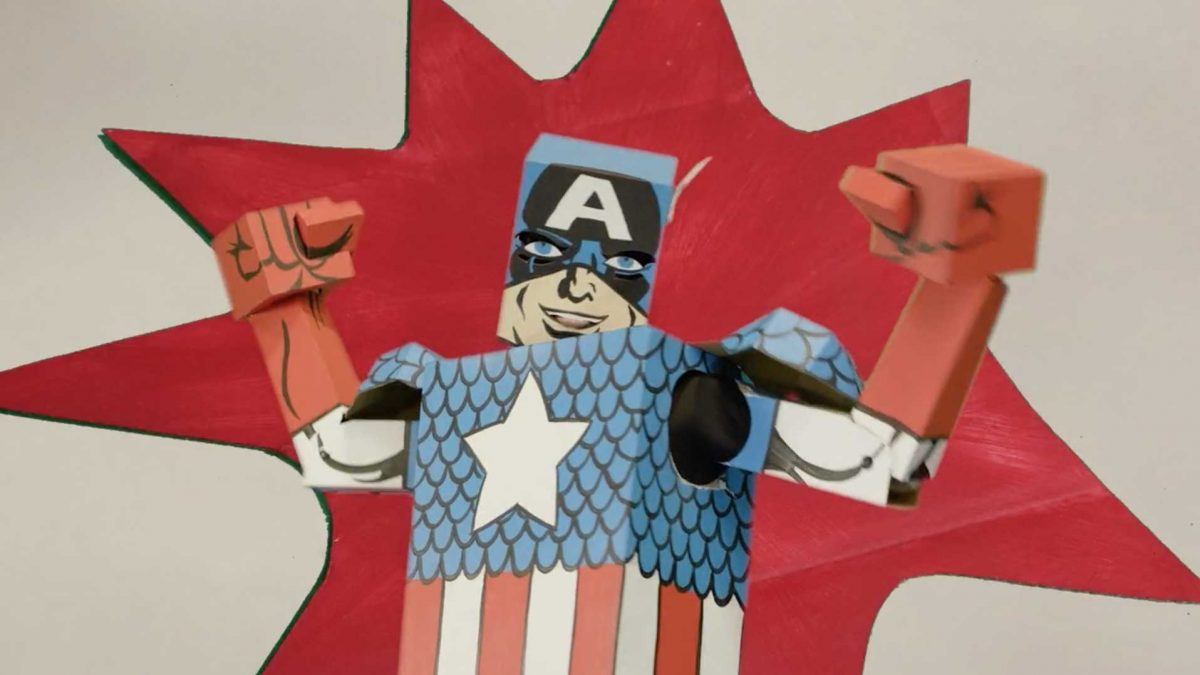 Cardboard Captain America to the Rescue!