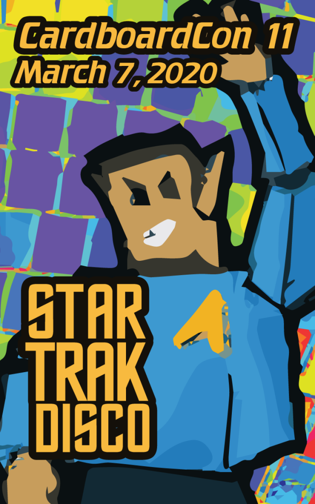 Artwork on the front of the surprise Star Trak badj.