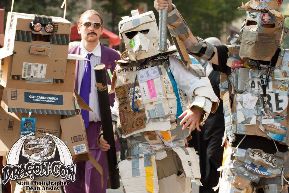 Boxplayers marching in Dragon Con parade, photo by Dean Ansley of The Guy Behind the Camera