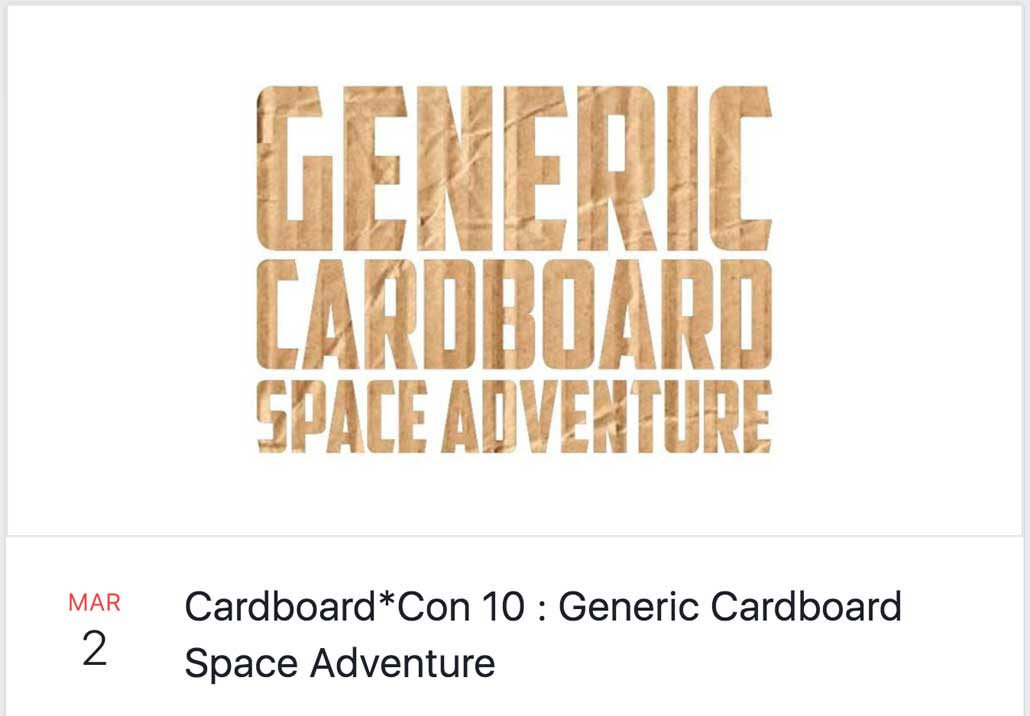 Cardboard*Con 10 Theme Announced