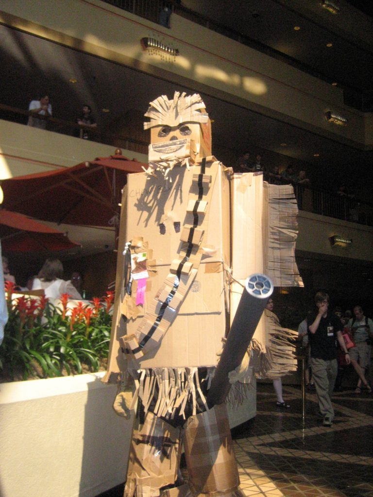 Elliott Boswell as cardboard Chewbacca