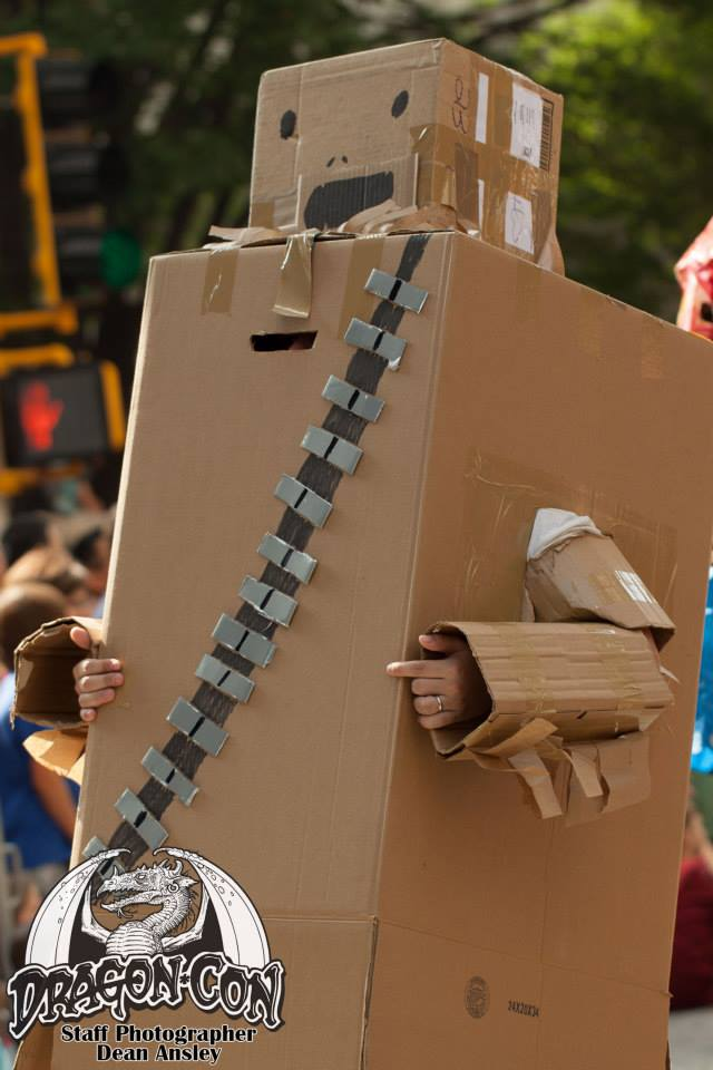 Rick Wollnick as cardboard Chewbacca
