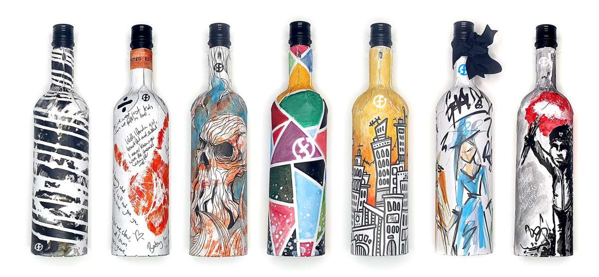 Cardboard bottles provide opportunities for more creative package artwork